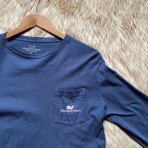 Vineyard Vines Classic Long Sleeve Tee Navy Blue